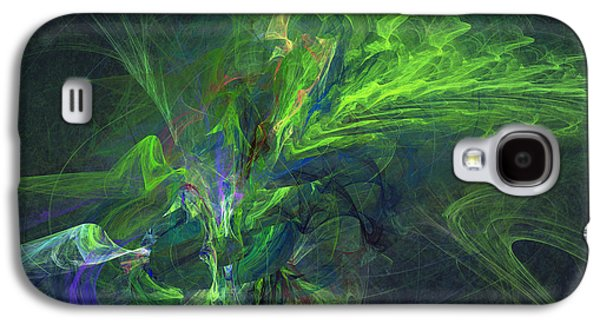 Morphing Galaxy S4 Cases - Green metamorphosis Galaxy S4 Case by Martin Capek