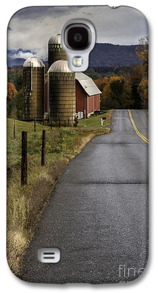 Scenic Drive Galaxy S4 Cases - Green Mountain Country Roads Galaxy S4 Case by Thomas Schoeller