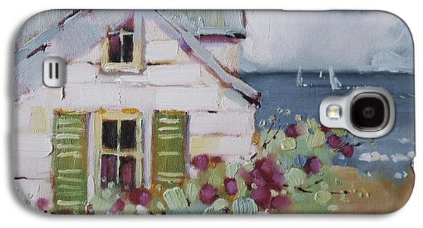 Cottage Galaxy S4 Cases - Green Nantucket Shutters Galaxy S4 Case by Joyce Hicks