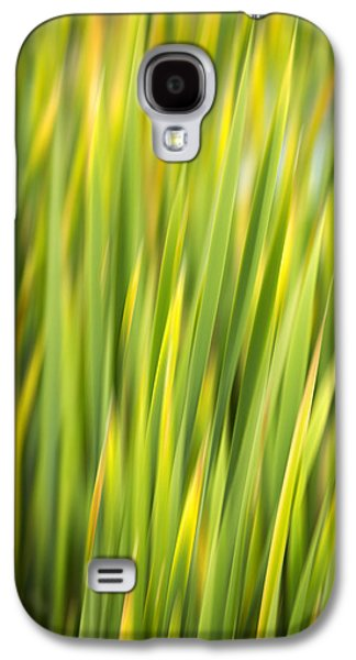 Nature Abstracts Galaxy S4 Cases - Green Nature Abstract Galaxy S4 Case by Christina Rollo