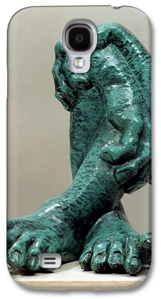 Surrealism Sculptures Galaxy S4 Cases - Green Organs Galaxy S4 Case by Shimon Drory