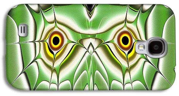 Eyes Galaxy S4 Cases - Green Owl Galaxy S4 Case by Anastasiya Malakhova