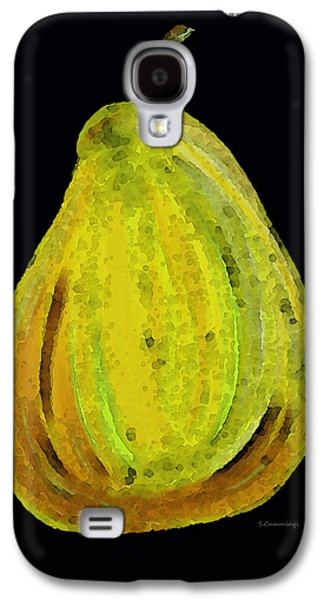 Pear Art Galaxy S4 Cases - Green Pear - Contemporary Fruit Art Food Print Galaxy S4 Case by Sharon Cummings