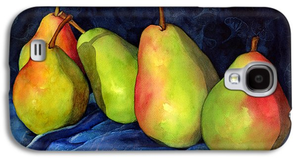 Pears Paintings Galaxy S4 Cases - Green Pears Galaxy S4 Case by Hailey E Herrera