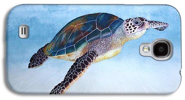 Alga Paintings Galaxy S4 Cases - Green Sea Turtle II Galaxy S4 Case by Jeff Lucas