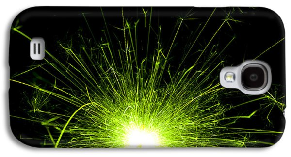 Sparkling Galaxy S4 Cases - Green Sparkle Galaxy S4 Case by Samuel Whitton