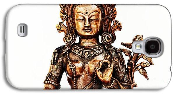 Tibetan Buddhism Galaxy S4 Cases - Green Tara Galaxy S4 Case by Tim Gainey