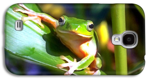 Spring Peepers Paintings Galaxy S4 Cases - Green Tree Frog 6 Galaxy S4 Case by Lanjee Chee