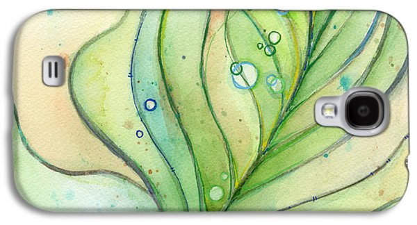 Green Galaxy S4 Cases - Green Watercolor Bubbles Galaxy S4 Case by Olga Shvartsur