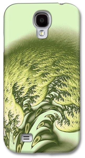 Waves Digital Art Galaxy S4 Cases - Green Wave Galaxy S4 Case by Anastasiya Malakhova