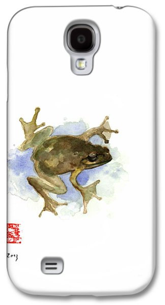 Green Yellow Blue Frog Lake River Animal World Water Colors Jewel Collection Galaxy S4 Case by Johana Szmerdt