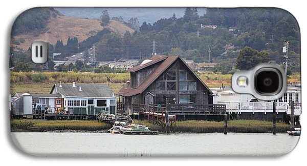 Sausalito Galaxy S4 Cases - Greenbrae California Boathouses At The Base of Mount Tamalpais 5D29347 Galaxy S4 Case by Wingsdomain Art and Photography