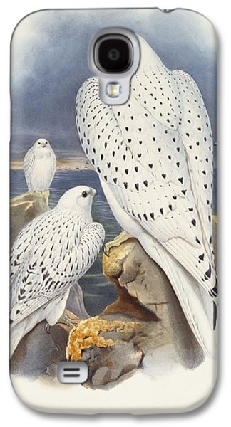 Greenland Falcon Galaxy S4 Case by John Gould