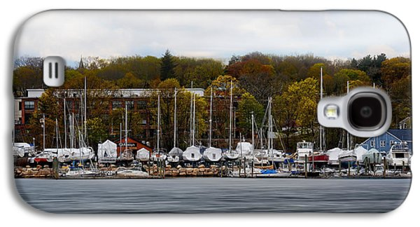 Boats In Harbor Galaxy S4 Cases - Greenwich Harbor Galaxy S4 Case by Lourry Legarde