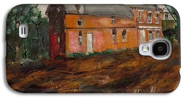 Haunted House Paintings Galaxy S4 Cases - Greenwich Mansion Galaxy S4 Case by Chuck Hayden