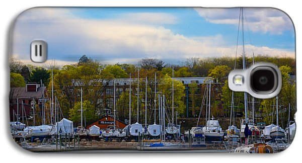 Boats In Harbor Galaxy S4 Cases - Greenwich Marina Galaxy S4 Case by Lourry Legarde
