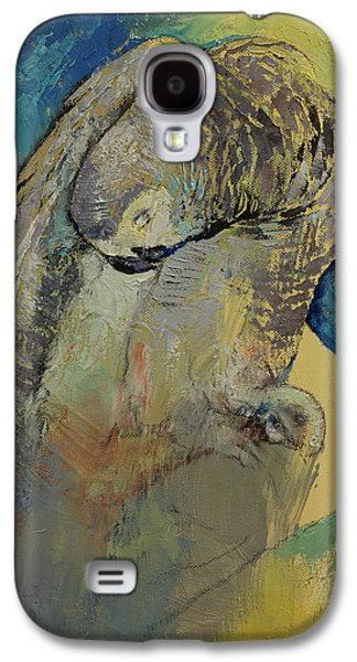 Recently Sold -  - Abstract Nature Galaxy S4 Cases - Grey Parrot Galaxy S4 Case by Michael Creese