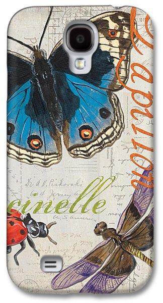 Grey Postcard Butterflies 4 Galaxy S4 Case by Debbie DeWitt