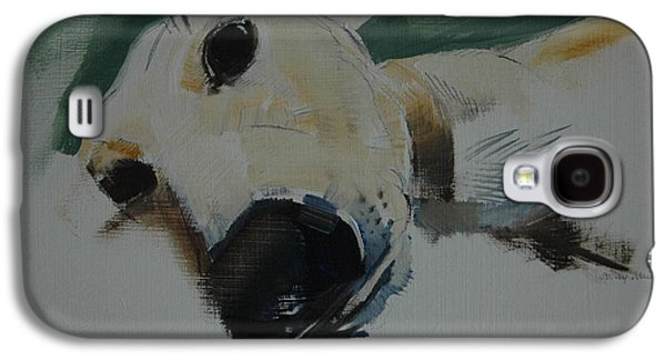 Hounds Galaxy S4 Cases - Greyhound, 2009 Oil On Paper Galaxy S4 Case by Sally Muir