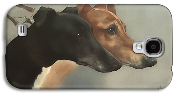 Greyhound Galaxy S4 Cases - Greyhounds  Galaxy S4 Case by Cheviot