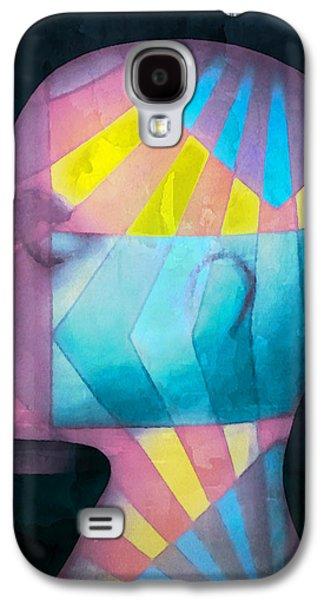 Grid Head Galaxy S4 Case by Jeff  Gettis