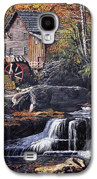 Grist Mill Paintings Galaxy S4 Cases - Grist Mill Galaxy S4 Case by Wanda Kightley