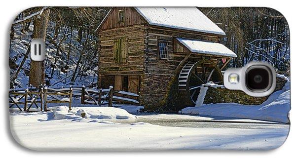 Winter Road Scenes Galaxy S4 Cases - Grist Mill Winter Galaxy S4 Case by Paul Ward
