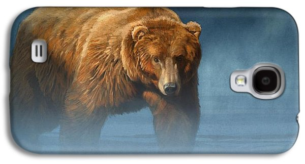 Wildlife Digital Art Galaxy S4 Cases - Grizzly Encounter Galaxy S4 Case by Aaron Blaise