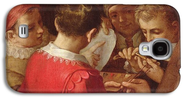 Group Of Artists Oil On Canvas Galaxy S4 Case by Annibale Carracci