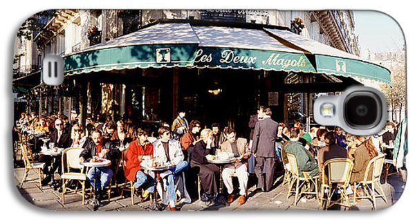 Local Food Galaxy S4 Cases - Group Of People At A Sidewalk Cafe, Les Galaxy S4 Case by Panoramic Images