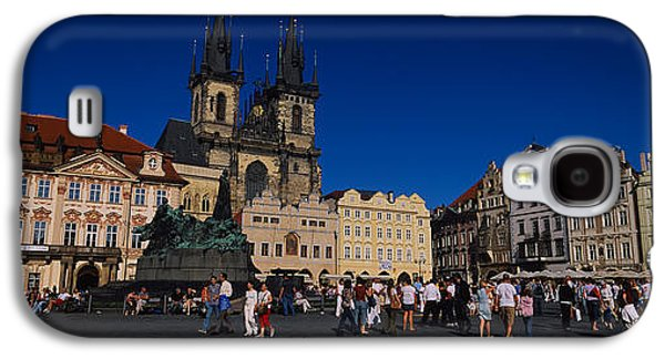 Town Square Galaxy S4 Cases - Group Of People At A Town Square Galaxy S4 Case by Panoramic Images