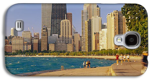 Jogging Galaxy S4 Cases - Group Of People Jogging, Chicago Galaxy S4 Case by Panoramic Images