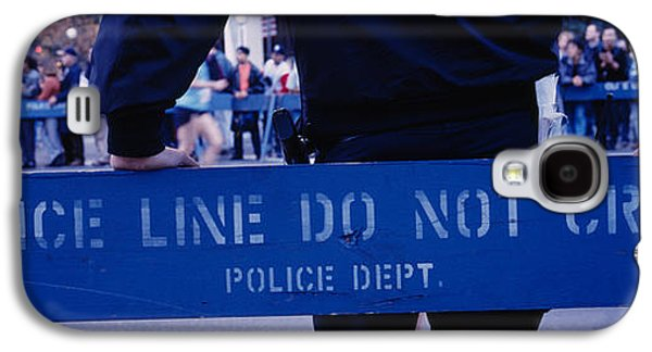 Police Officer Galaxy S4 Cases - Group Of People Running In A Marathon Galaxy S4 Case by Panoramic Images