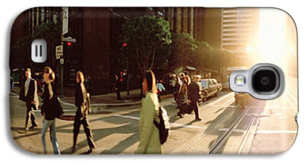 Three Quarter Length Galaxy S4 Cases - Group Of People Walking On The Street Galaxy S4 Case by Panoramic Images