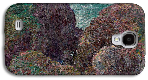 Claude Paintings Galaxy S4 Cases - Group of Rocks at Port Goulphar Galaxy S4 Case by Claude Monet