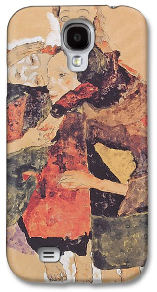 Women Together Paintings Galaxy S4 Cases - Group of Women Galaxy S4 Case by Egon Schiele