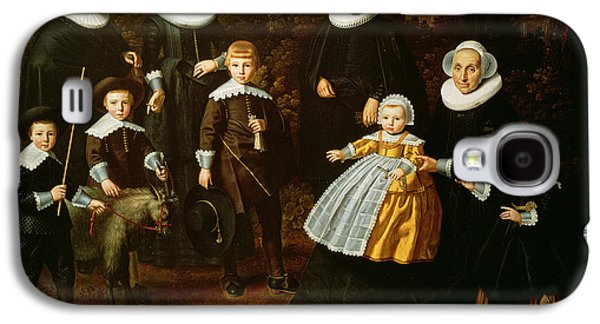 Mascot Galaxy S4 Cases - Group Portrait Of Three Generations Of A Family In The Grounds Of A Country House Oil On Canvas Galaxy S4 Case by Dirck Santvoort