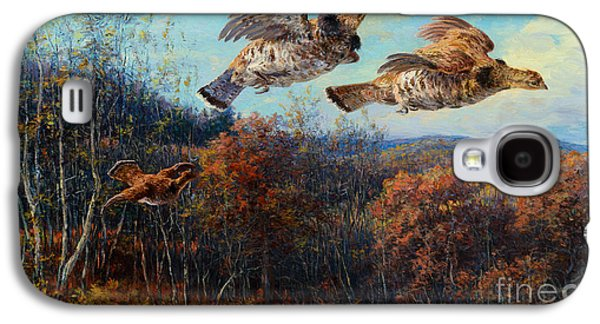 Steer Paintings Galaxy S4 Cases - Grouse in Flight Galaxy S4 Case by Edmund H Osthaus