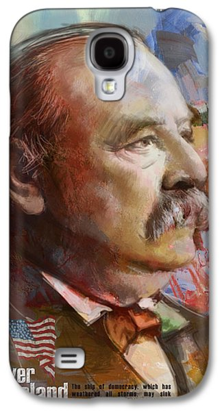 James Buchanan Galaxy S4 Cases - Grover Cleveland Galaxy S4 Case by Corporate Art Task Force