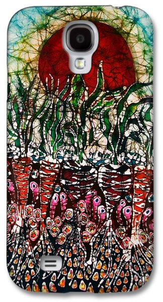 Food And Beverage Tapestries - Textiles Galaxy S4 Cases - Growing Sun Energy on Garden Galaxy S4 Case by Carol Law Conklin
