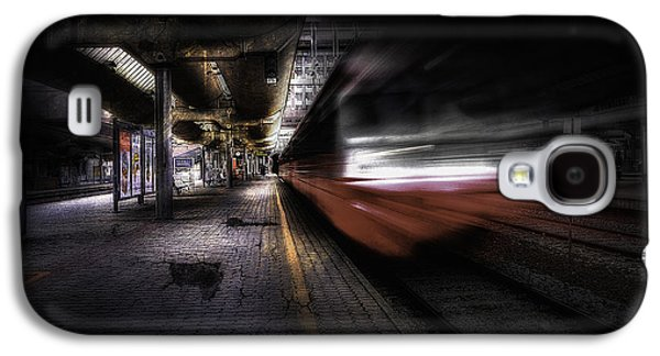 Abstract Movement Galaxy S4 Cases - Grunge Art Part III - Runaway Train Galaxy S4 Case by Erik Brede