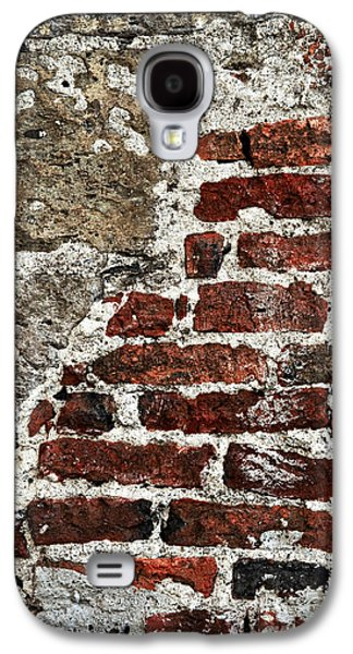 Wall Galaxy S4 Cases - Grunge brick wall Galaxy S4 Case by Elena Elisseeva