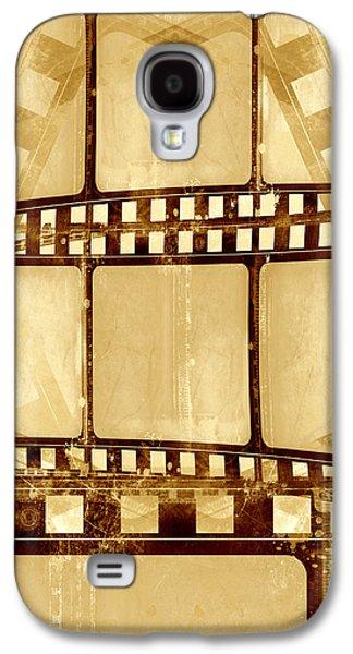 Filmstrip Galaxy S4 Cases - Grunge Filmstrip Composition Galaxy S4 Case by Modern Art Prints