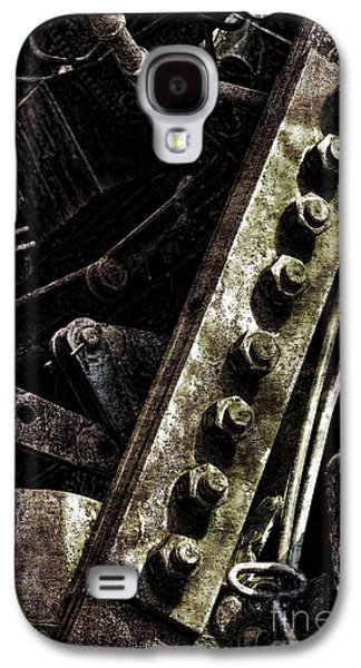 Machinery Galaxy S4 Cases - Grunge Industrial Machinery Galaxy S4 Case by Olivier Le Queinec