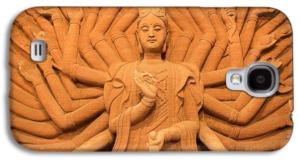 Tibetan Buddhism Galaxy S4 Cases - Guanyin Bodhisattva Galaxy S4 Case by Dean Harte