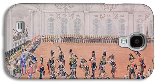 Uniform Galaxy S4 Cases - Guard Parade, 1820s Wc On Paper Galaxy S4 Case by Russian School