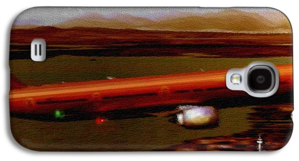 Passenger Plane Mixed Media Galaxy S4 Cases - Guardian over Seattle Galaxy S4 Case by Marcello Cicchini