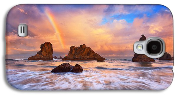 Storm Prints Photographs Galaxy S4 Cases - Guardians of the Sea Galaxy S4 Case by Darren  White