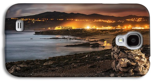 Beach Landscape Galaxy S4 Cases - Guincho at Dusk Galaxy S4 Case by Carlos Caetano