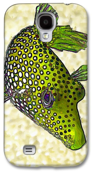 Photo Manipulation Galaxy S4 Cases - Guinea Fowl Puffer Fish in Green Galaxy S4 Case by Bill Caldwell -        ABeautifulSky Photography